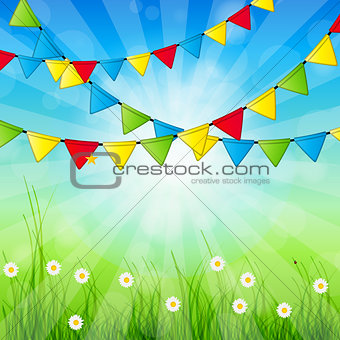 Abstract Holiday Nature Background Vector Illustration