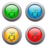 Christmas ball glass button set