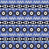 Tribal Aztec seamless pattern on purple background
