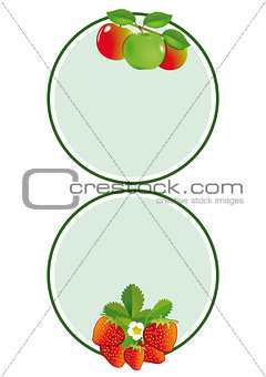 Apple strawberry label