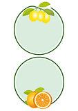 Lemons Oranges Label