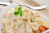 spanish ensaladilla rusa, russian salad