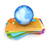 Earth on a credit cards.