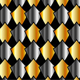 Metallic tiles background