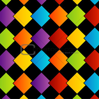 Background with colorful boxes