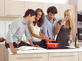 Friends Preparing Breakfast l