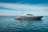 Lrge private motor yacht  out at sea