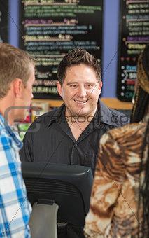 Male Cafe Cashier