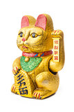 The Lucky Cat - Maneki Neko holding the Koban coin