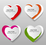 Collection of Origami Banners Template Vector Illustration