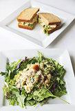 tuna salad and sandwich