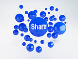 share sign. Social network  concept.