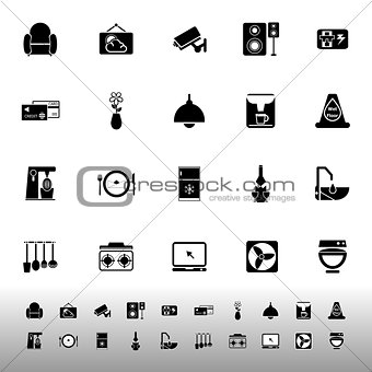 Cafe and restaurant icons on white background
