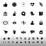 Chat conversation icons on white background