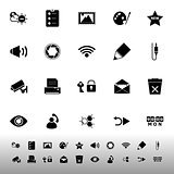 General computer screen icons on white background