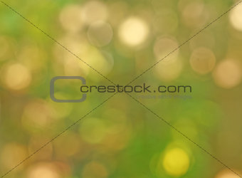 Abstract gentle green background - beige spots bokeh