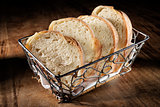 basket with baguette
