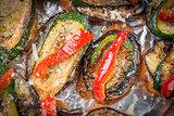 Bruschetta pepper courgette