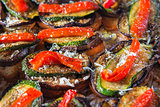 Bruschetta pepper courgette
