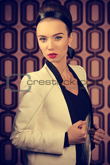 elegant woman with jacket