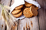crispy oat cookies and ears