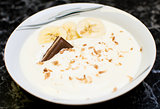 Banana yogurt dessert