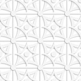Geometric white pattern with layering and dots