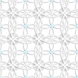 Geometrical pattern with gray and blue dots