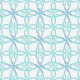 Geometrical pattern with lace ornament and blue