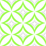 White and green pointy rhombuses seamless