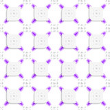 White and purple small rectangle gropes and perforated leaves se