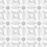 White ornament net gray flowers and white crosses