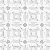 White ornament net gray flowers and white crosses