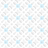 White ornament with blue squares seamless