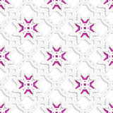 White perforated ornament layered with stars seamless