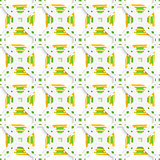 White perforated ornament with green orange seamless