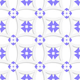 White rhombuses and blue layering
