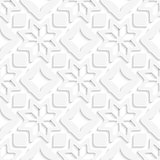 White snowflakes and white squares seamless