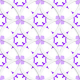White vertical pointy squares with purple layering seamless
