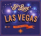 Greeting card from Las Vegas - Nevada.