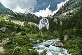Waterfall of Toce river, Formazza Valley - Piedmont