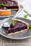 Blueberry pie on the plate