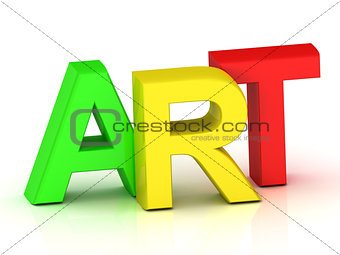 art 3d inscription bright volume letter