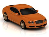 Luxury car orange.