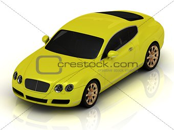Luxury car yellow