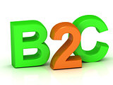 B2C 3d inscription bright volume letter