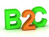 B2C 3d inscription bright volume letter
