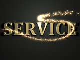 SERVICE- 3d inscription with luminous line with spark
