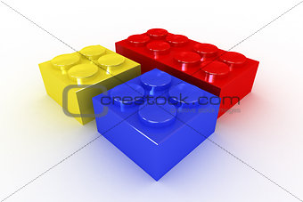 A Collection of Bright Coloured Building Blocks