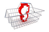 Sale Dollar Basket Illustration